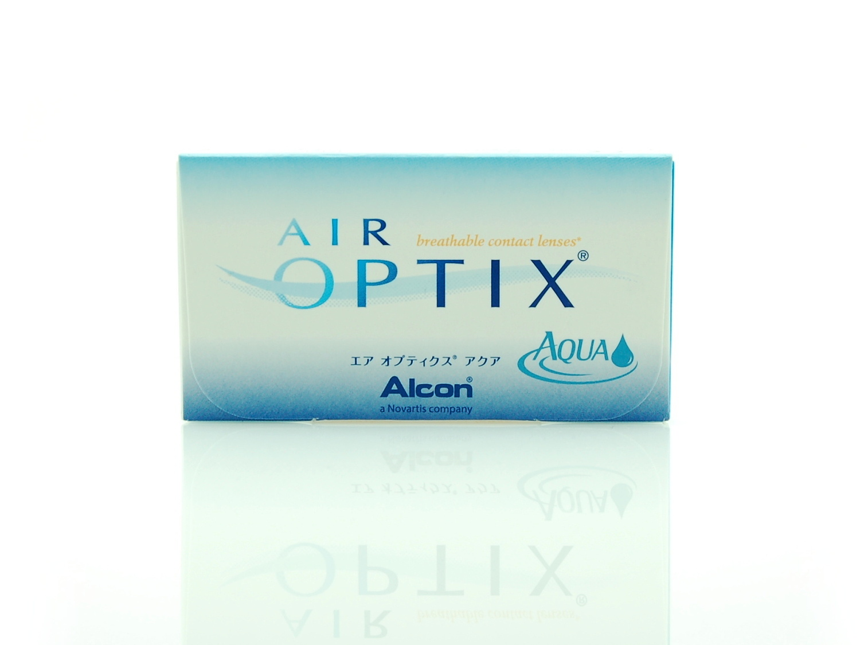 Дышащие, месячные контактные линзы Айр Оптикс Аква 6 шт в упаковке, можно дешего купить в оптике Линзбург.
