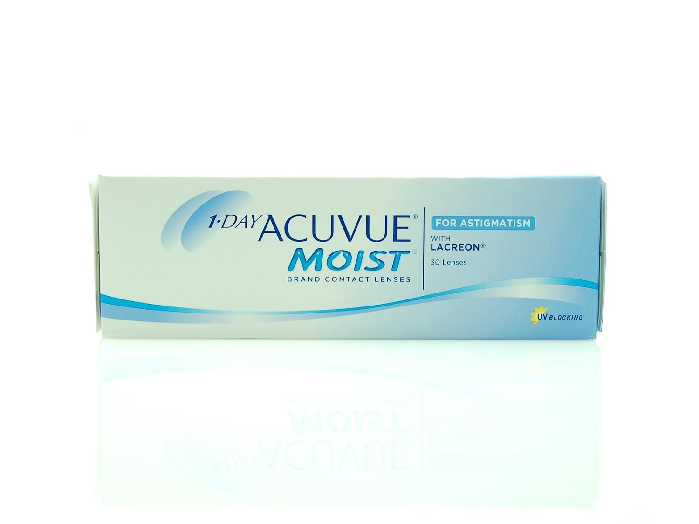 Однодневные гидрогелевые линзы Акувью Мойст 30 шт в упаковке, купить дешего в оптике Линзбург.